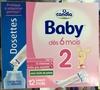 Dosettes Baby 2 - Produit