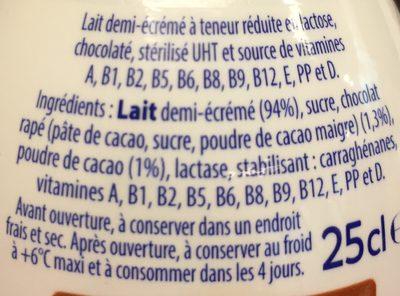 Viva chocolat  25cl - Ingredients