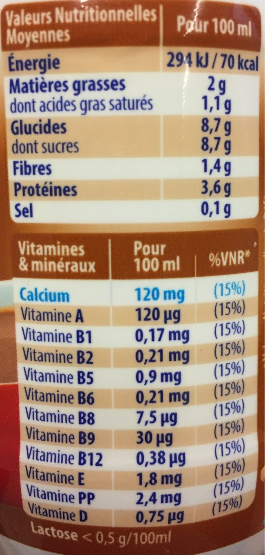Viva chocolat  25cl - Nutrition facts