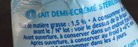 lait - Ingrediënten - fr