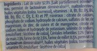 Candia baby croissance 3 - Ingrédients - fr