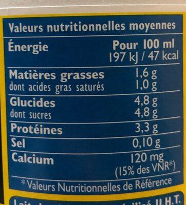 Grandlait laitiers responsable - Informations nutritionnelles - fr