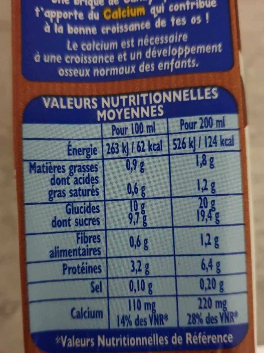 Candy'up bio - Informations nutritionnelles - fr