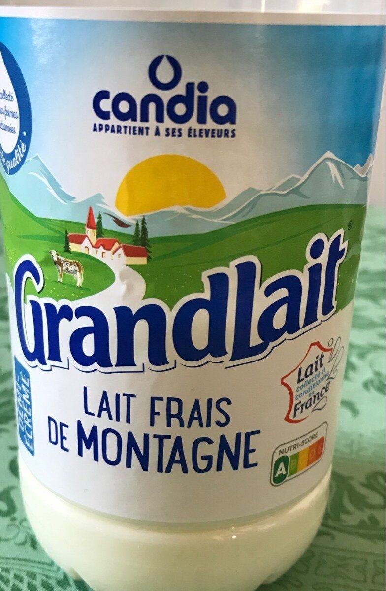 Grandlait - Lait frais de montagne demi écrémé - Product