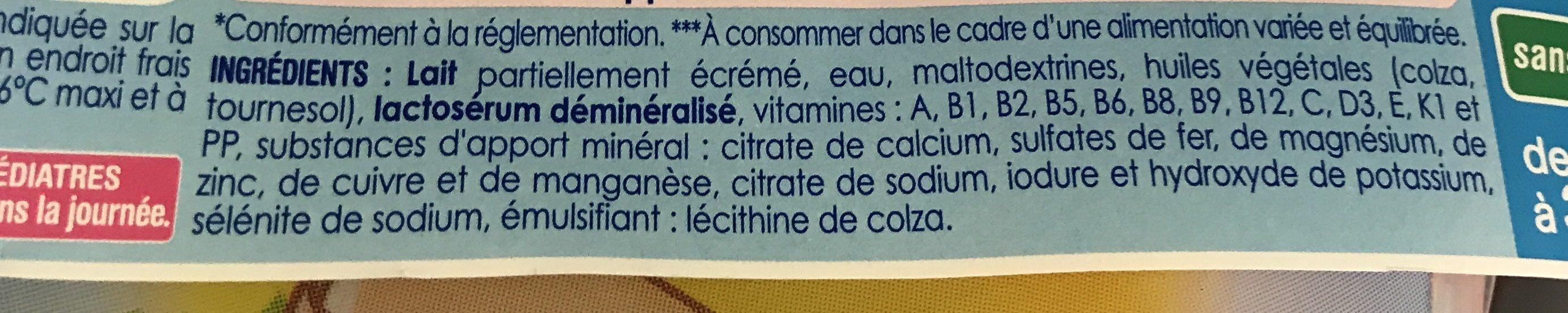 Lait infantile - Ingrédients - fr