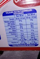 Boisson lactée chocolatée - Nutrition facts - fr