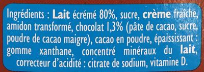 Candy'Up Crème dessert - Ingrédients - fr