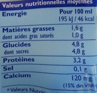 GrandLait Bio - Informations nutritionnelles - fr