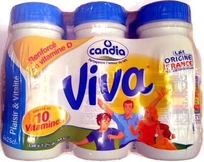 Candia Viva Lait demi-écrémé UHT - Product