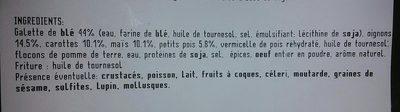 Samoussas aux légumes - Ingredients - fr