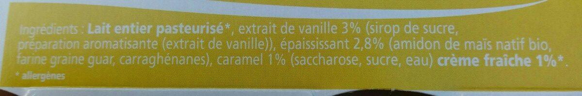 Les Prairies de la Gartempe creme dessert vanille x4 - Ingrédients - fr