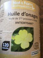 Eco Responsable Huile D'onagre Bio + Vitamine e 120 Capsules - Product