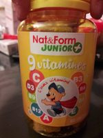 9 Vitamines - 60 Ours - Nat & Form Junior + - Product
