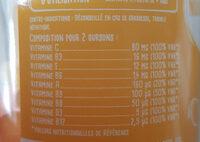 9 Vitamines Goût orange, citron, framboise - Valori nutrizionali - fr