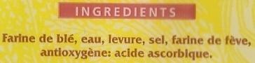 Baguettes Précuites - Ingrediënten