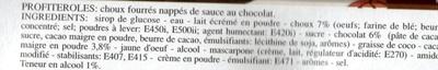 Profiteroles - Ingrediënten - fr