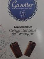 L'authentique Crêpe Dentelle de Bretagne Chocolat Noir - Produit - fr