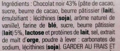 L'authentique Crêpe Dentelle de Bretagne Chocolat Noir - Ingrédients - fr