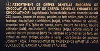 Crêpe dentelle, chocolat au lait, chocolat noir - Ingrediënten