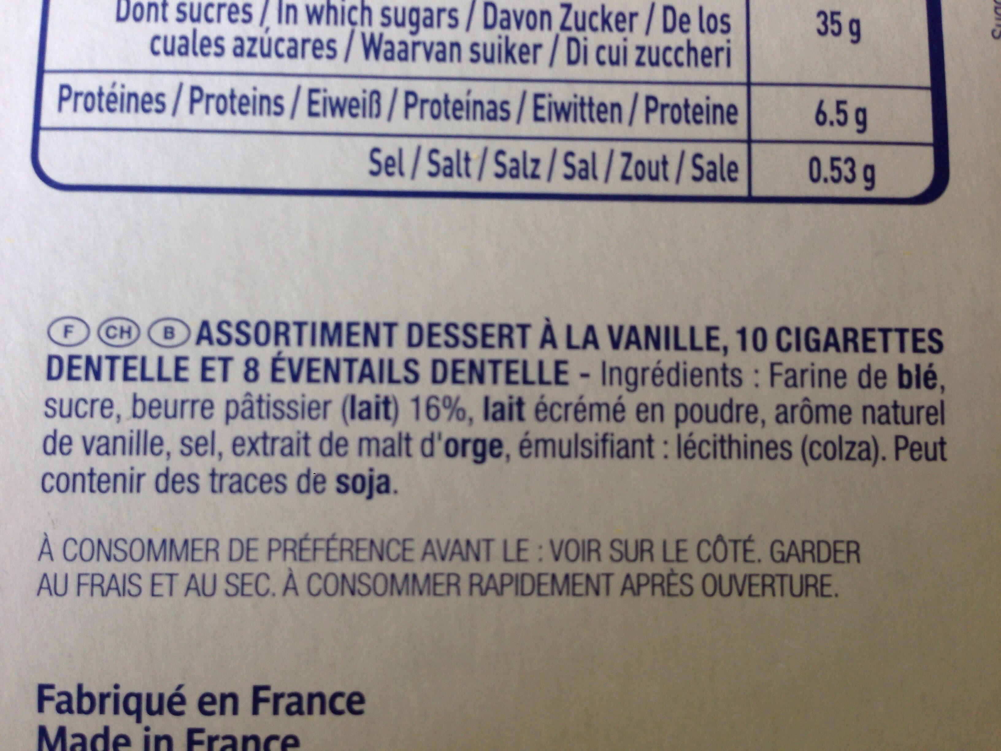Crepes Pour Dessert Asst. 100G Les Gavottes - Ingrediënten