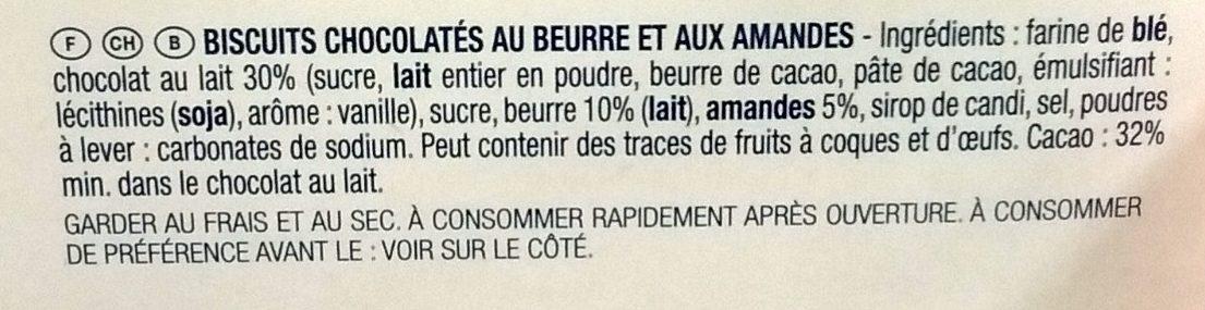 Fin Croquant aux Amandes et Chocolat au Lait - Ingredients - fr