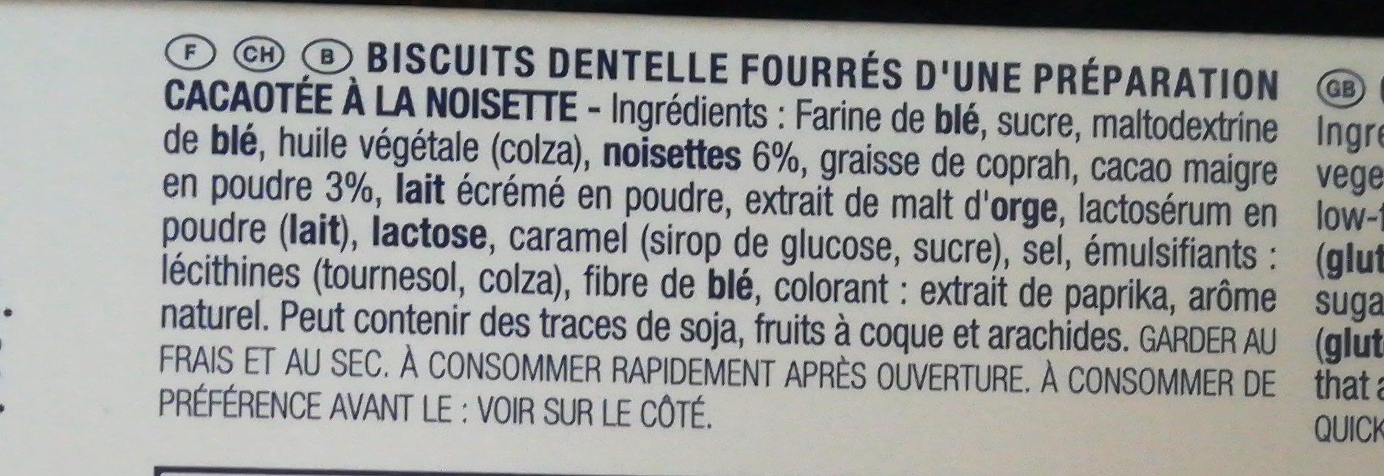 Gavottes Wafer Bites Filled With Cocoa & Hazelnut - Ingrediënten