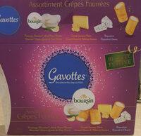 Gavottes crêpes fourrées apéritives - trio violet : bousin, comté et noix, roquefort - Product