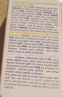 Gavottes crêpes fourrées apéritives - trio violet : bousin, comté et noix, roquefort - Ingredients
