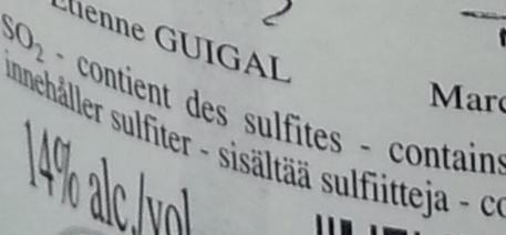 Côtes du Rhône - Ingredients - fr