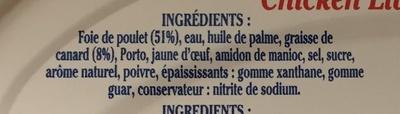 Mousse de Foie de Volaille - Ingrédients