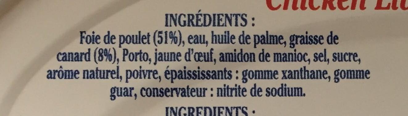 Mousse de Foie de Volaille - Ingrediënten