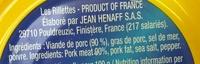 Les Rillettes Hénaff - Ingredients