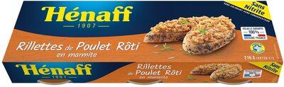 Les Rillettes de Poulet Rôti - Produit - fr