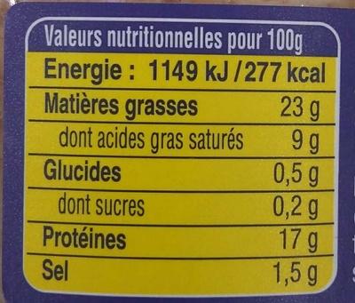 Le Pâté Hénaff - Informations nutritionnelles - fr