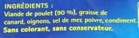 Les Rillettes Hénaff Poulet, Rôti en marmite (Lot de 3) - Ingredienti - fr