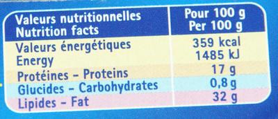 Les Rillettes Hénaff Poulet, Rôti en marmite (Lot de 3) - Valori nutrizionali - fr