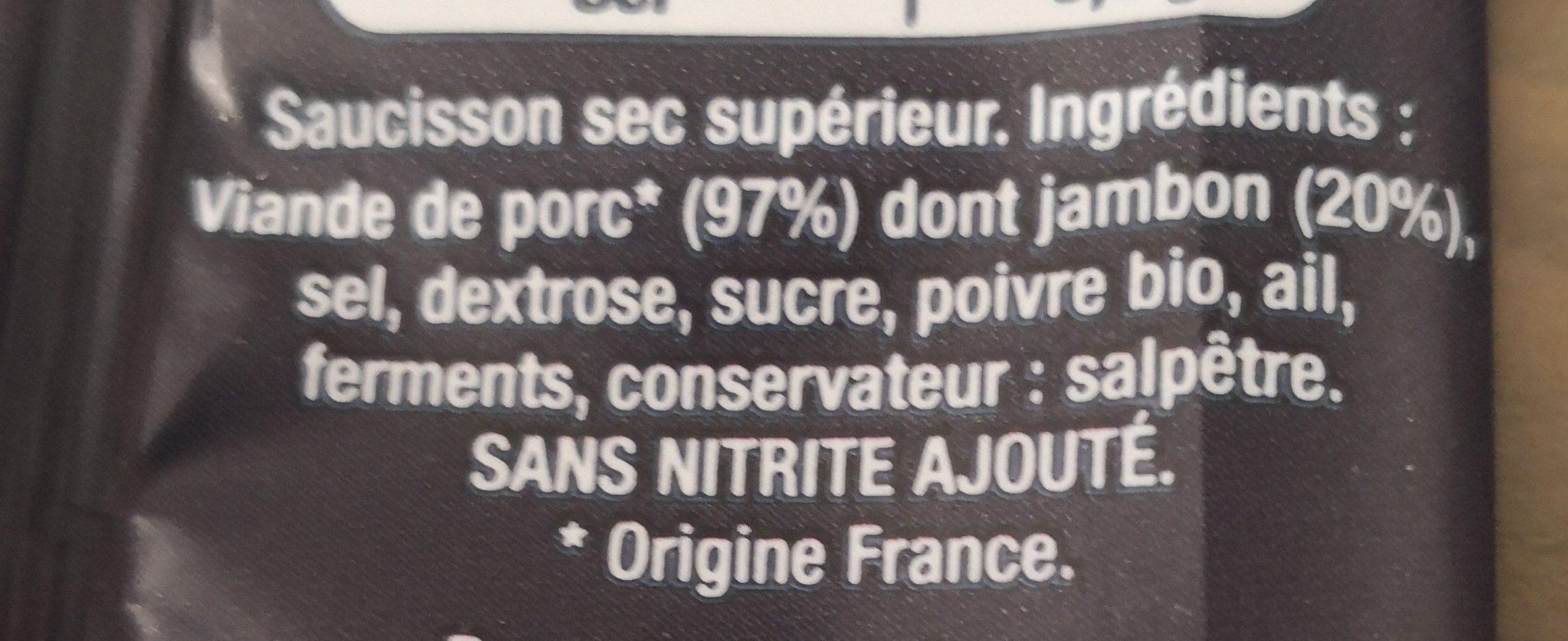 Le Saucisson Hénaff - Ingrediënten
