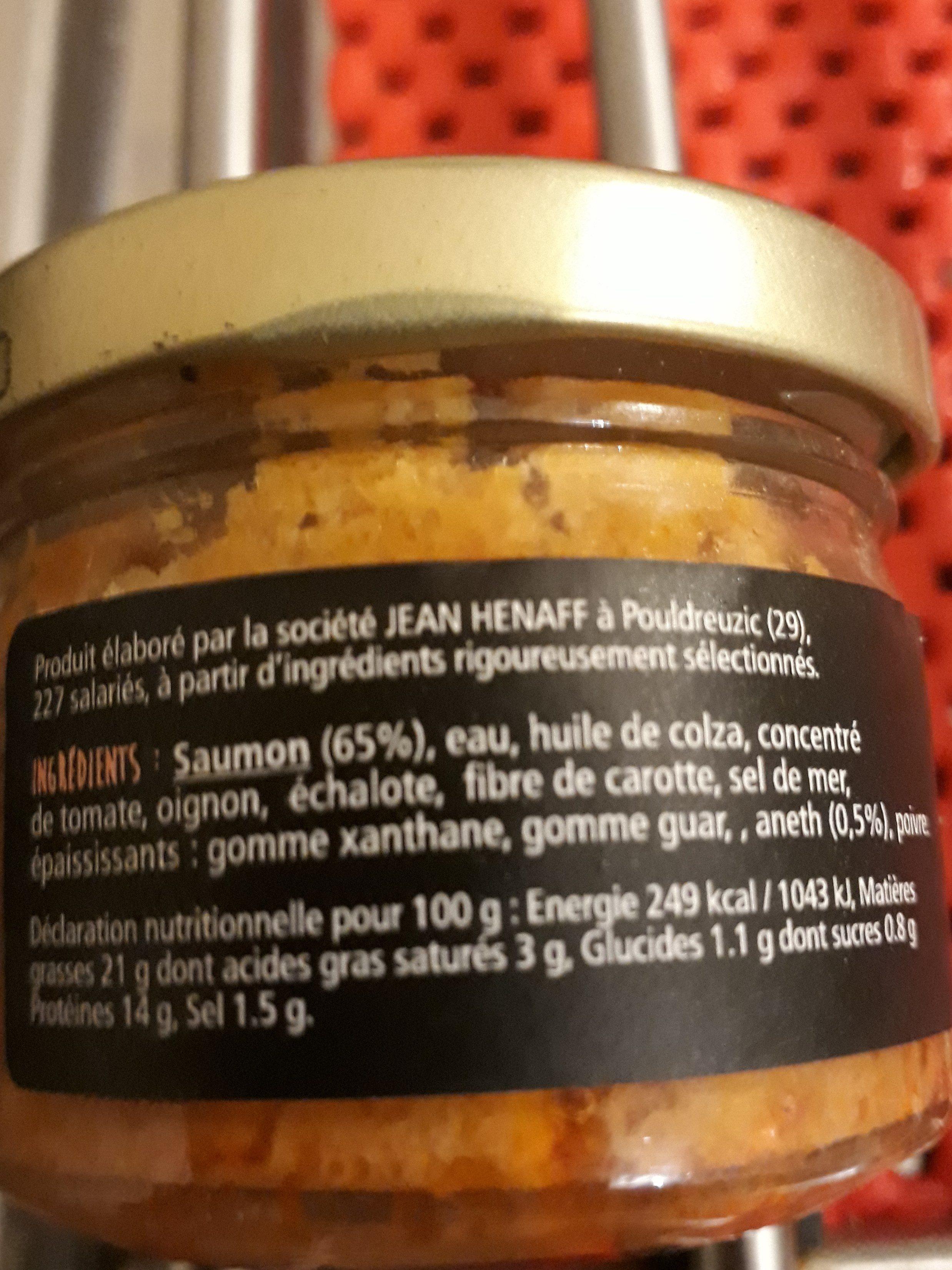 Rillettes de saumon à l'aneth - Ingredients