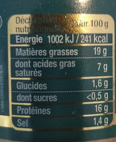 Canard la terrine de Hénaff - Informations nutritionnelles