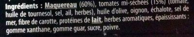 Rillettes de Maquereau à la Tomate - Ingredients - fr