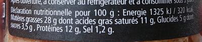 Terrine de campagne - Nutrition facts - fr