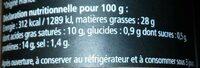 Confit de foie au cognac fine Champagne - Voedingswaarden - fr