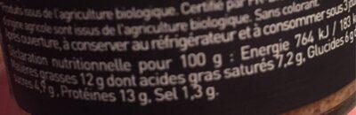 Rillette de dorade au miel et au cidre Bio - Voedingswaarden - fr