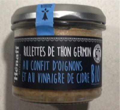 Rillettes de Thon Germon au Confit d'oignons et au vinaigre de cidre Bio - Produit - fr