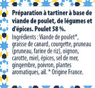 Tartinade de Poulet Tajine - Ingrediënten - fr