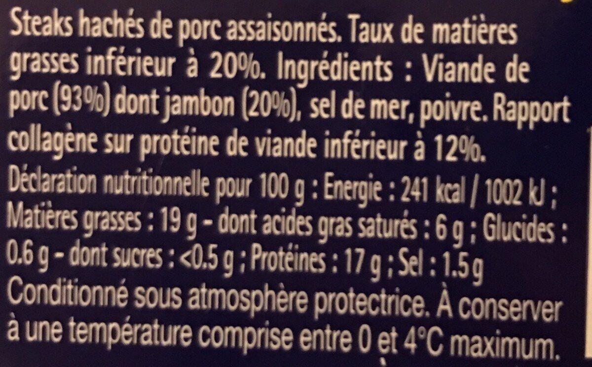Palet nature - Ingrédients - fr