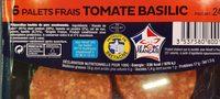 Le palet Hénaff TOMATE BASILIC - Ingrediënten