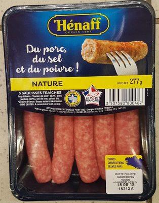 Saucisses fraîches Hénaff nature - Produit - fr