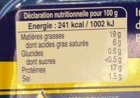 Saucisses fraîches Hénaff nature - Informations nutritionnelles - fr