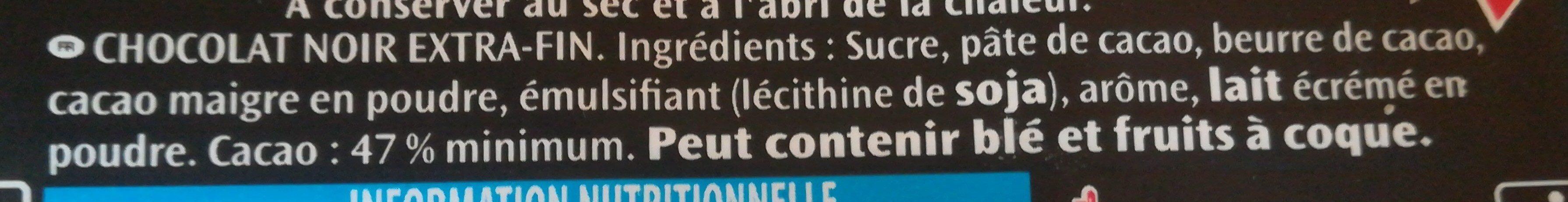 Poulain noir extra - Ingrédients